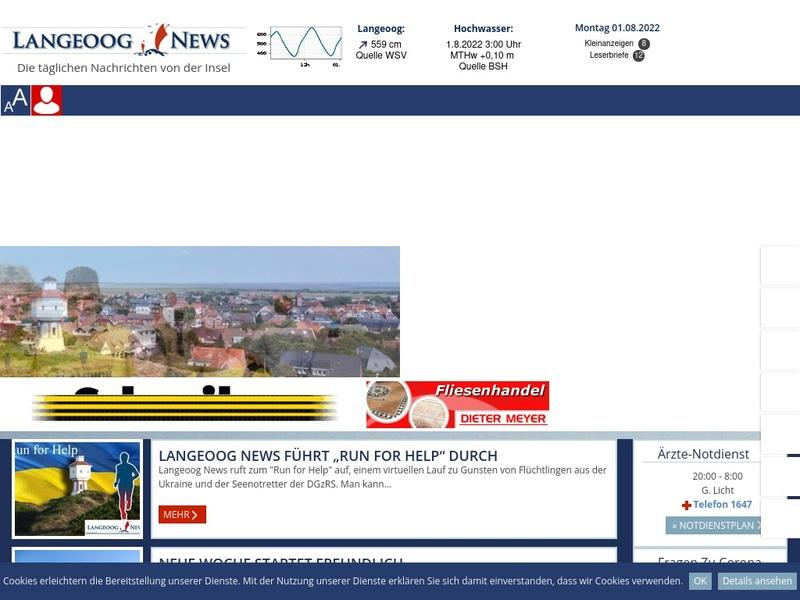 Screenshot von www.langeoognews.de